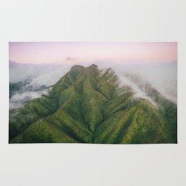 Clouds over the Koʻolau Mountains on Oahu Rug