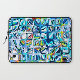 White blue Rainbow Colorful cubes Laptop Sleeve