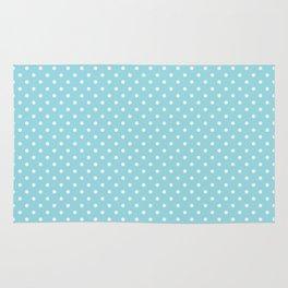 Mini Sky Blue with White Polka Dots Rug