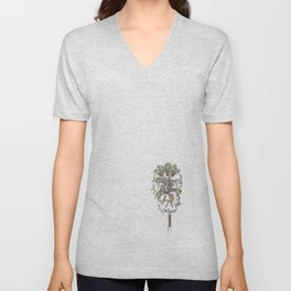 A palm tree in Santa Barbara Unisex V-Neck