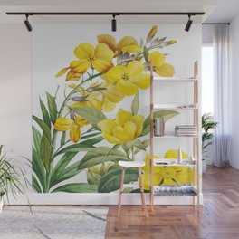 Yellow Flowers Wall Mural