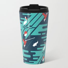 Fishing on the Dock Pattern Travel Mug