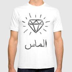 diamond MEDIUM White Mens Fitted Tee