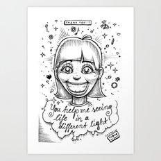 Different light Art Print
