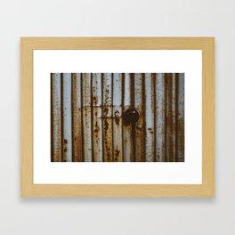 Rustic Wall? Something like that.. Framed Art Print