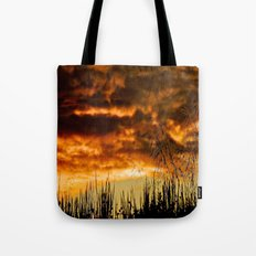 When Storm & Sunset Meet Tote Bag