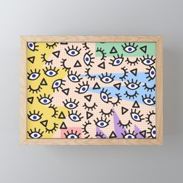 Keep an eye out Framed Mini Art Print