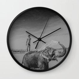 Nepali elephant Wall Clock