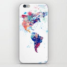 Coloful Splatter World Map iPhone Skin