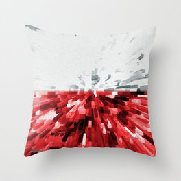 Extruded flag of Poland Throw Pillow