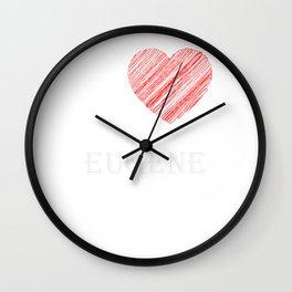 Eugene Klassik. I love my favorite city. Wall Clock