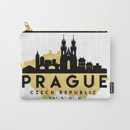 PRAGUE CZECH REPUBLIC SILHOUETTE SKYLINE MAP ART Carry-All Pouch