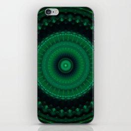 Mandala in greens iPhone Skin