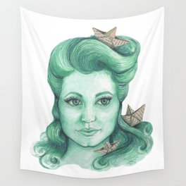 Paper ships II Wall Tapestry
