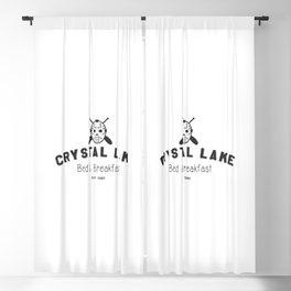 Crystal Lake Bed and Breakfast, Former Camp Crystal, Est.1980, Design for Wall Art, Posters, Tshirts, Men, Women, Kids Blackout Curtain