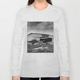 Omaha airfield airplain hangar america 1940s usa transportation Long Sleeve T-shirt