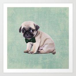 Angry Pug Art Print