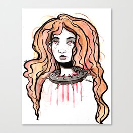 Silence Watercolor Painting by Grimmiechan Canvas Print
