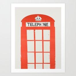 Red London Telephone Box Art Print