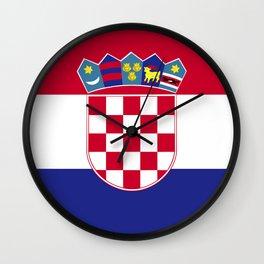Croatia flag emblem Wall Clock
