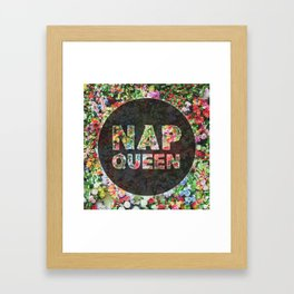 Nap Queen Floral Style Framed Art Print