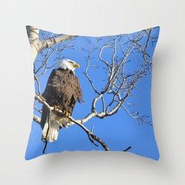 Wintertime Baldy Throw Pillow