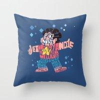 steven universe Throw Pillows featuring Steven universe by Rebecca McGoran