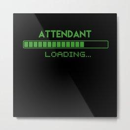 Attendant Loading Metal Print