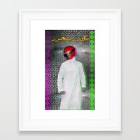 power ranger Framed Art Prints featuring Arab power ranger  by Bothayna Al Zaman