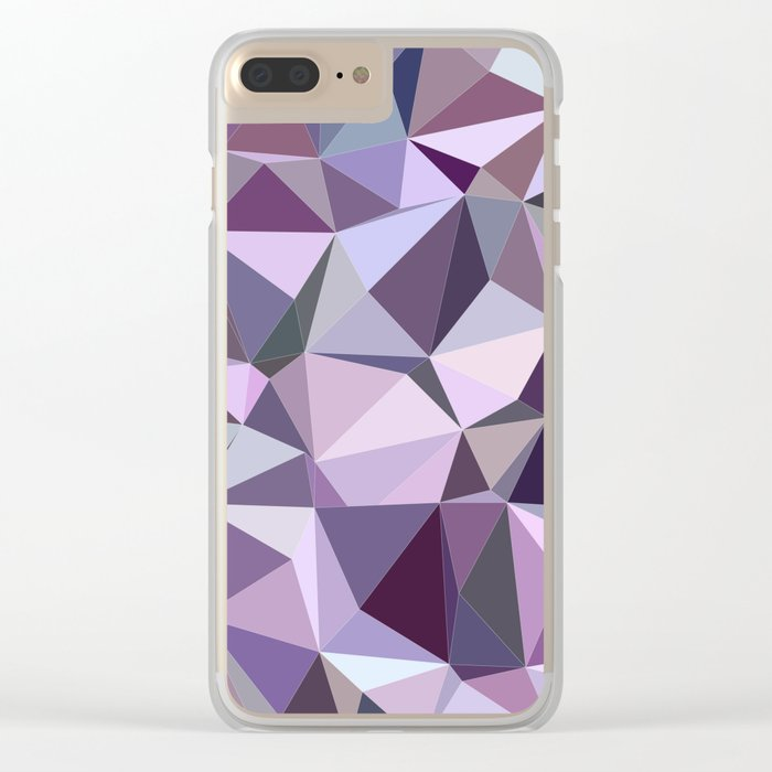 Happy purple triangles Clear iPhone Case