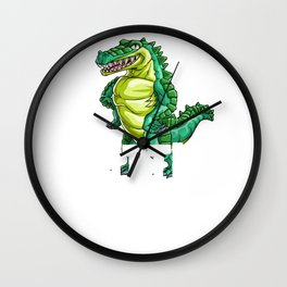 Crocodile Little Brother Alligator Reptile Animal Wall Clock