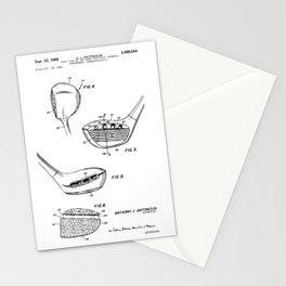 patent art Antonious Golf Club of the wood type 1969 Stationery Cards