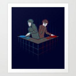 Techno-Tron-ic Art Print