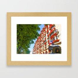 Plaza Athene Framed Art Print