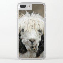 Funny alpaca Clear iPhone Case