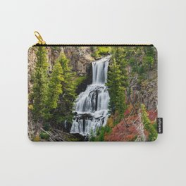 Undine Falls In Yellowstone National Park Carry-All Pouch