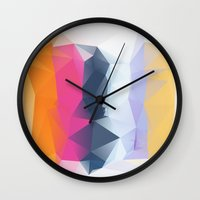 siren Wall Clocks featuring SIREN by Three of the Possessed