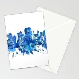 Minsk Belarus Skyline Blue Stationery Cards