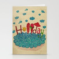 holiday Stationery Cards featuring Holiday by ezgi karaata