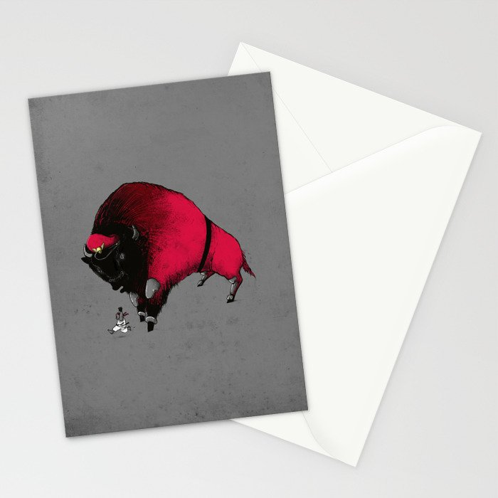 ROUND 1, FIGHT? Stationery Cards