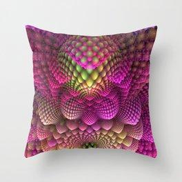 Colored Romenesco Throw Pillow