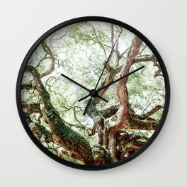 Angel Oak Tree Wall Clock