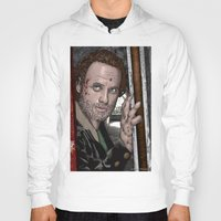 rick grimes Hoodies featuring Rick Grimes  Walking Dead by Kenneth Shinabery