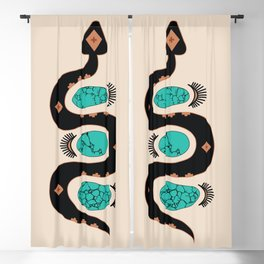 Southwestern Slither in Black Blackout Curtain