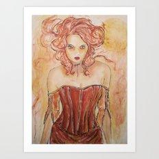 Vampire Gabrielle Art Print