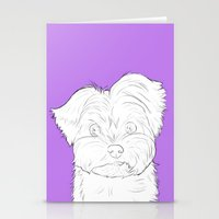 yorkie Stationery Cards featuring Yorkie by FeliciaR