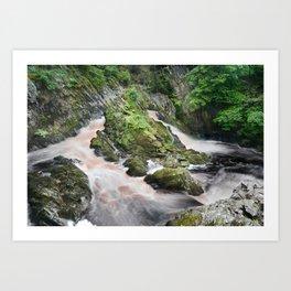 Rhaeadr y Graig Lwyd or Conwy falls Art Print