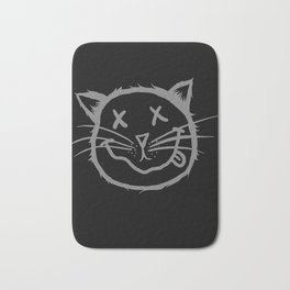 cat cartoon face Bath Mat