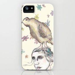 Spring Bird and Wildflowers iPhone Case