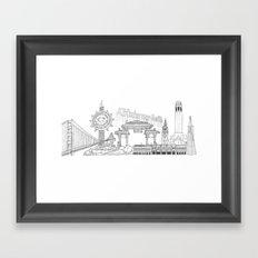 San Francisco by the Downtown Doodler Framed Art Print